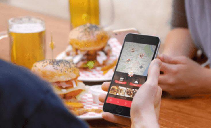 A screenshot of a restaurant app