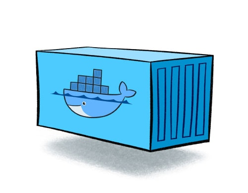 An illustration of a docker container