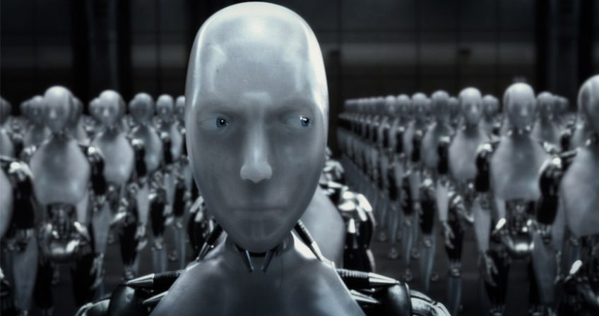A screenshot from the I, Robot movie