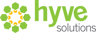 A logo of Hyve Solutions