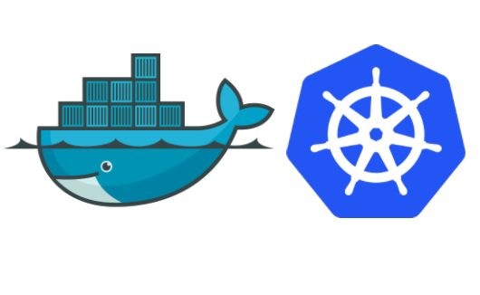 compare two of the most popular container management tools right now in 2017- Google Kubernetes and Docker Swarm logos