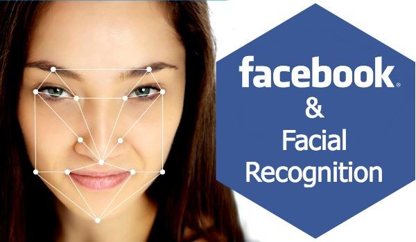 Facebook facial recognition illustration