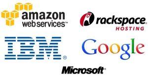 logos of cloud providers