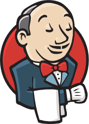 A logo of Jenkins