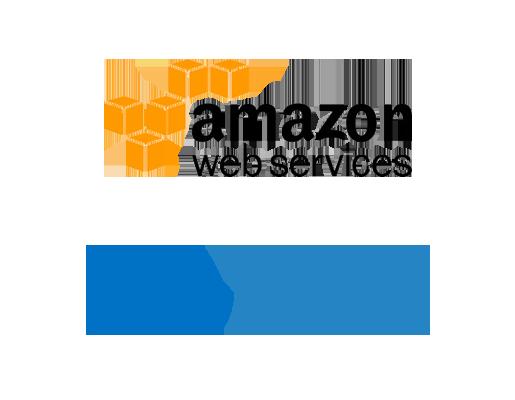 Azure vs AWS logos