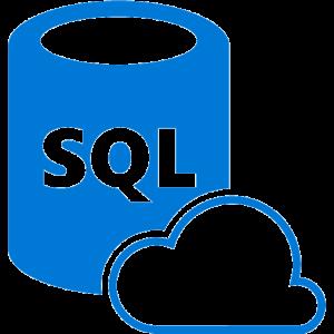 A logo of Azure sql