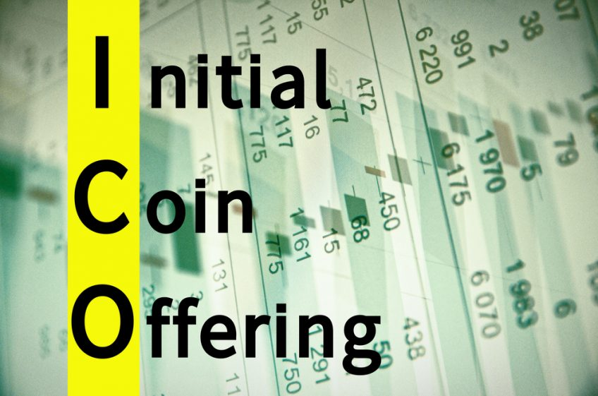 The phrase Initial Coin Offering written against a report