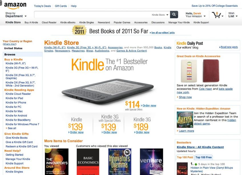 A screenshot of an Amazon's product page