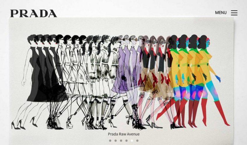 An illustration of Prada's website