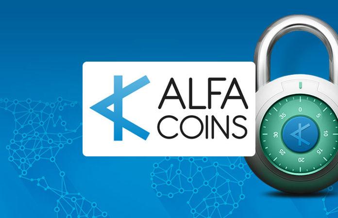 An alfacoins logo
