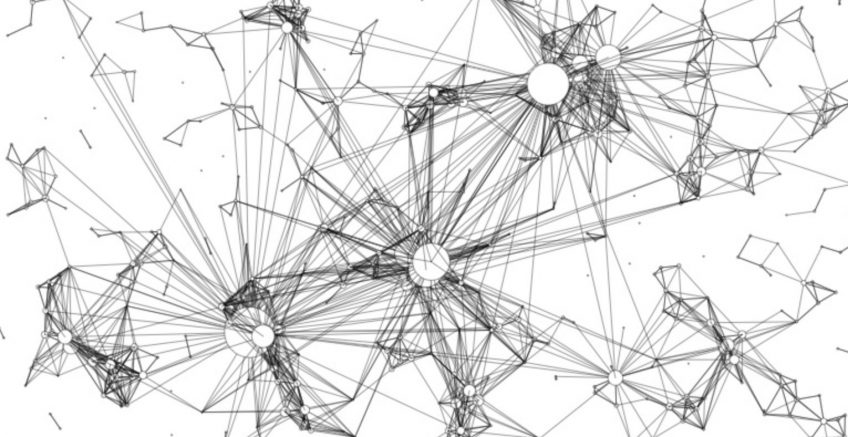 An image of connected points and nodes