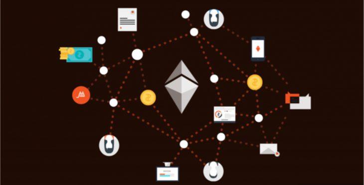A stylized illustration of a decentralized app