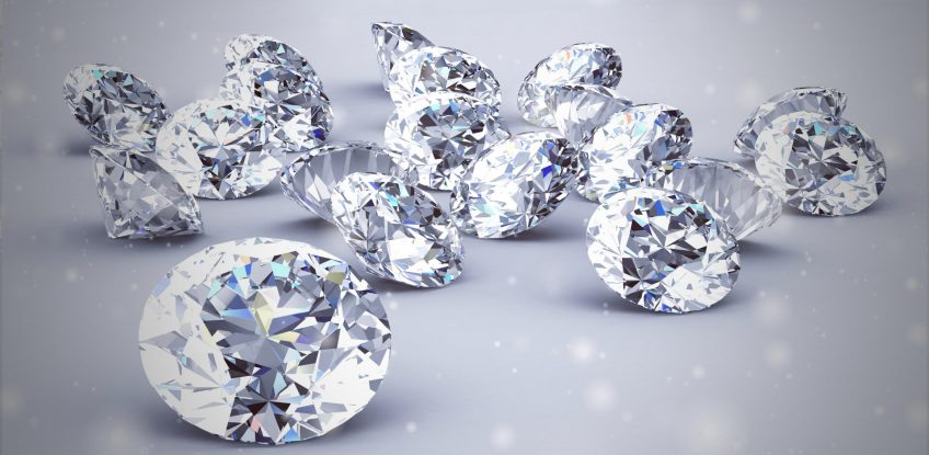 diamond jewel High resolution 3D image Vintage Style