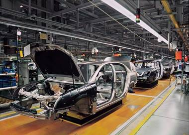 An image of car manufacturing factory