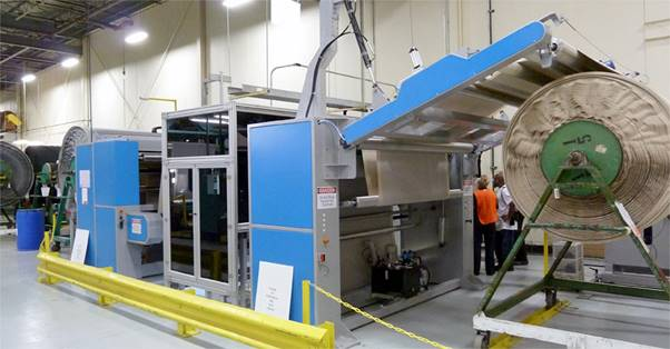 A photo of a factory production line