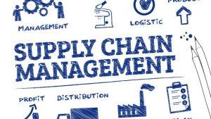 Blockchain for supply chain management illustration