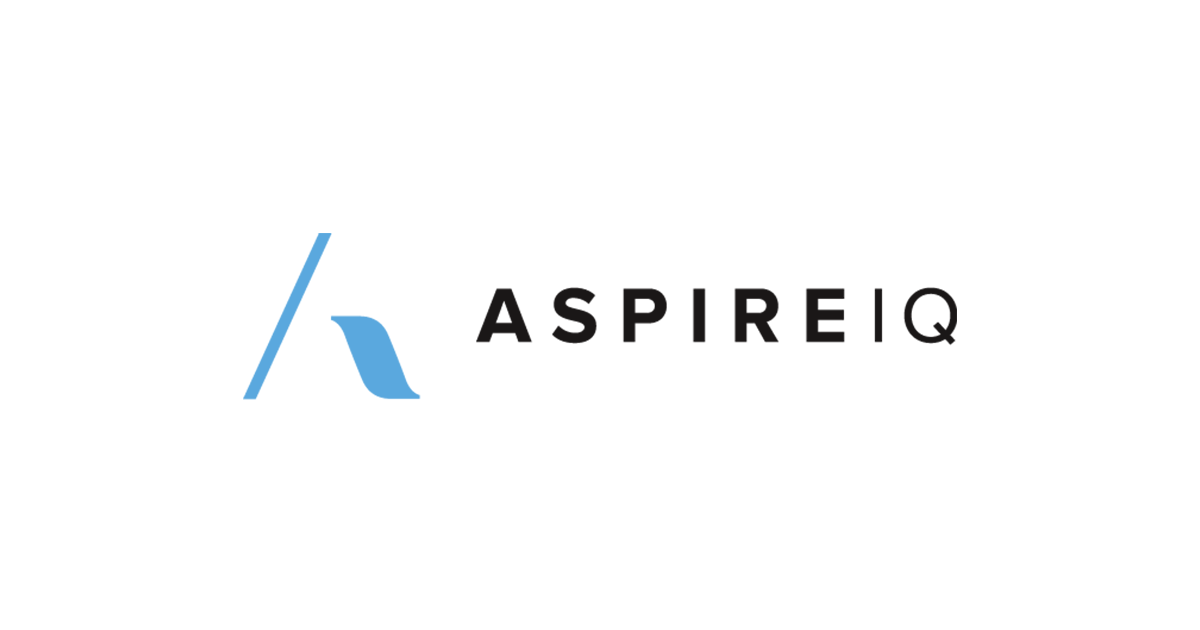 A logo of AspireIQ