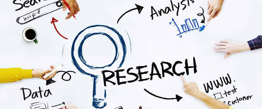 A stock photo illustrating data, research, analysis