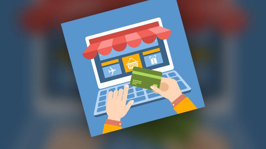 An illustration of e-commerce store