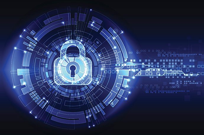 A stylized illustration of system security