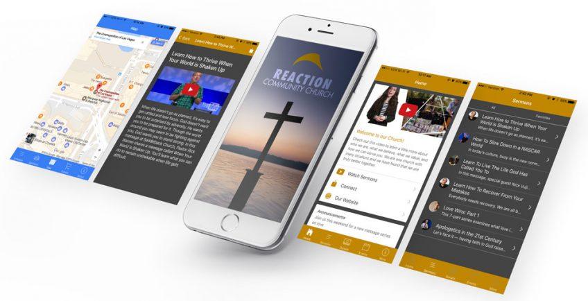 A screenshot of a church app