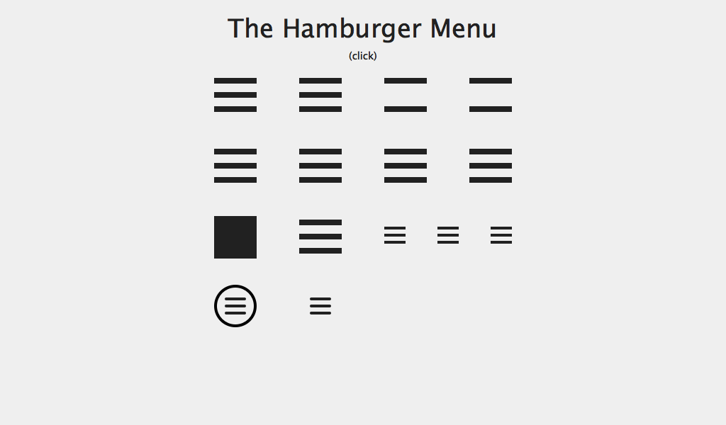 An illustration of the Hamburger Menu