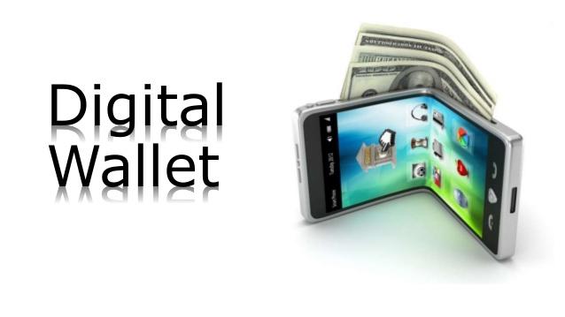 An illustration of a digital wallet