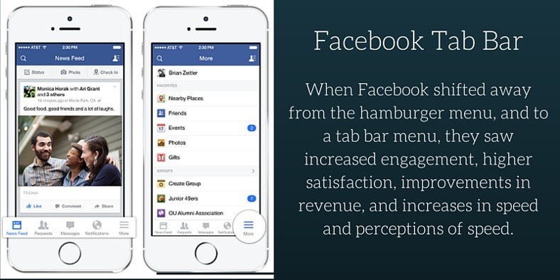 An illustration of Facebook Tab Bar