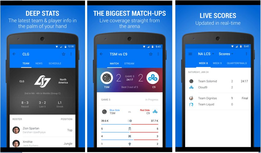 Build an app for eSports