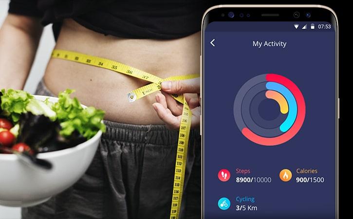 a screenshot of a diet app