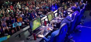 A photo of an e-sports competition