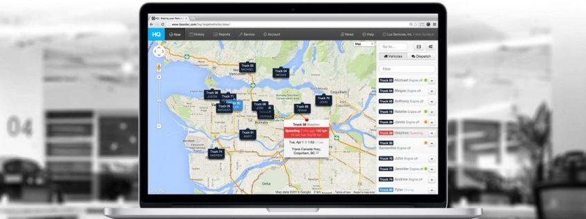 An illustration of a fleet management app