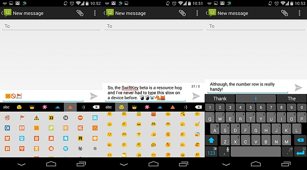 A SwiftKey Keyboard example