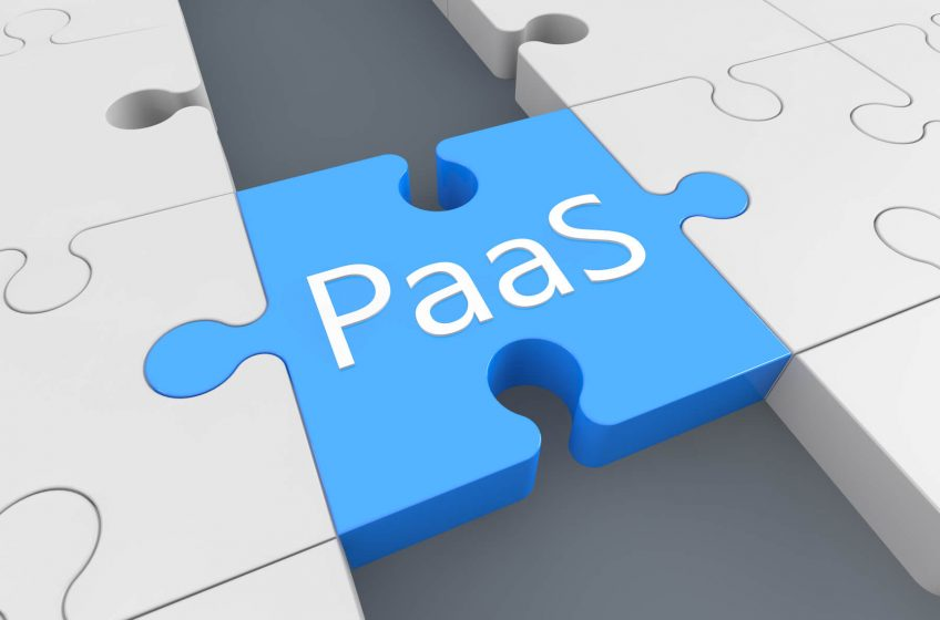 A puzzle piece with the word PaaS on it