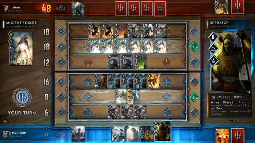 A screenshot of Gwent