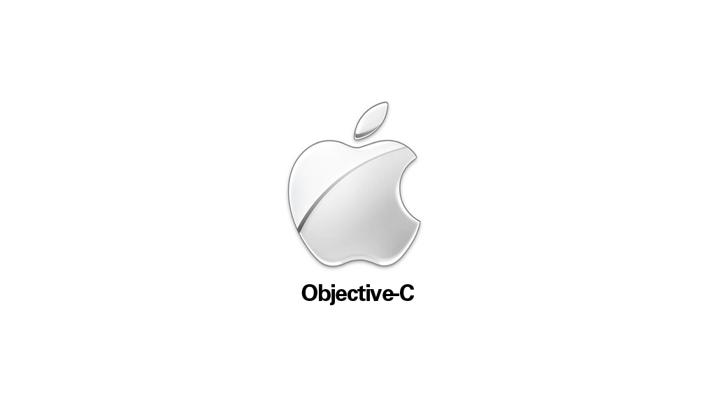 An Apple logo and Objective-C