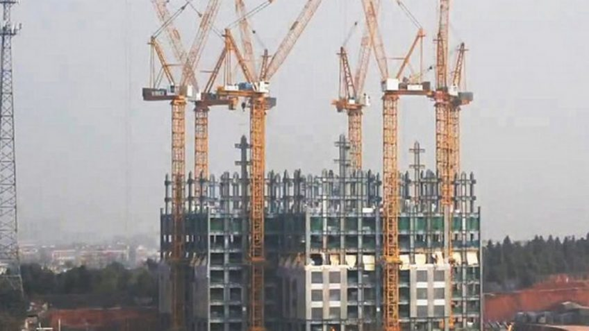 An image of a building under construction