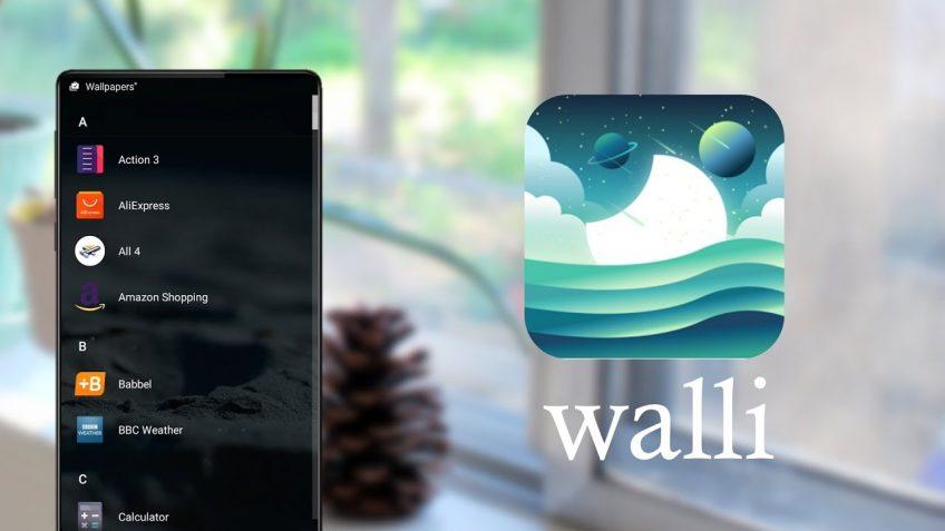 An example of Walli wallpaper app