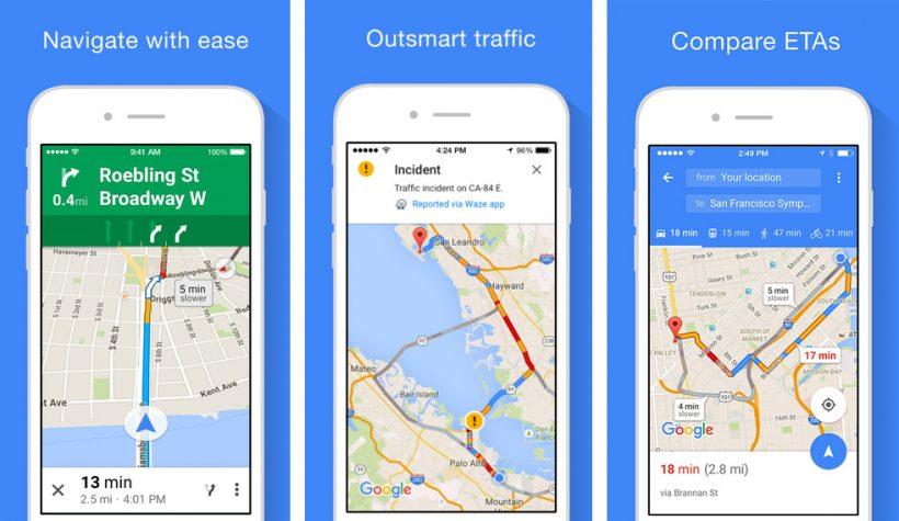 Google Maps App Zwischenziele