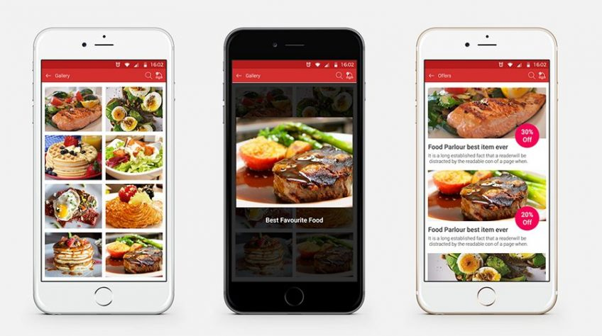 A screenshot of a food ordering app