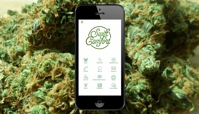 a screenshot of marijuana app