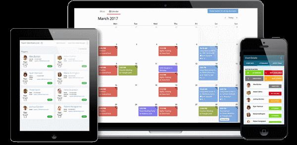 A screenshot of a team management app