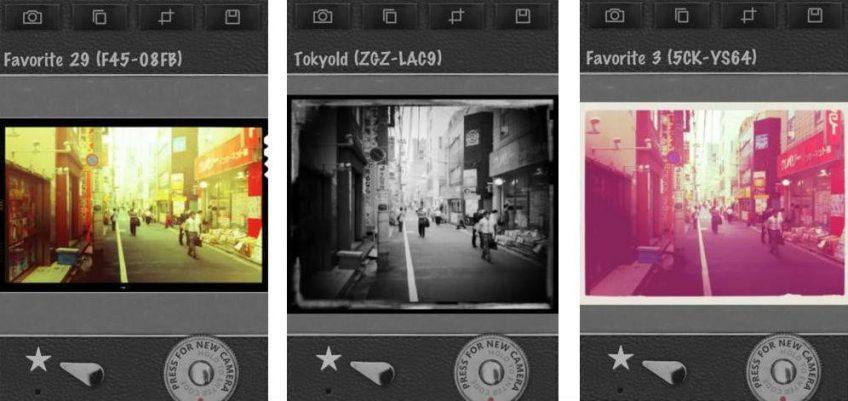 Screenshots of a photography app like Picasa