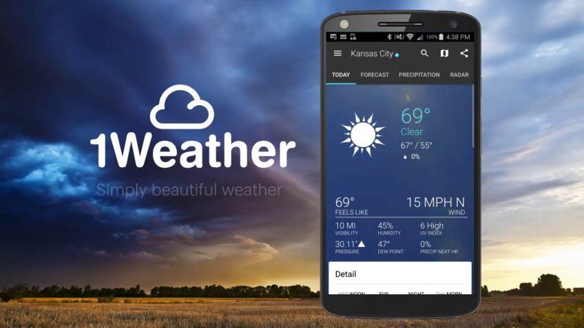 1 WEather app website
